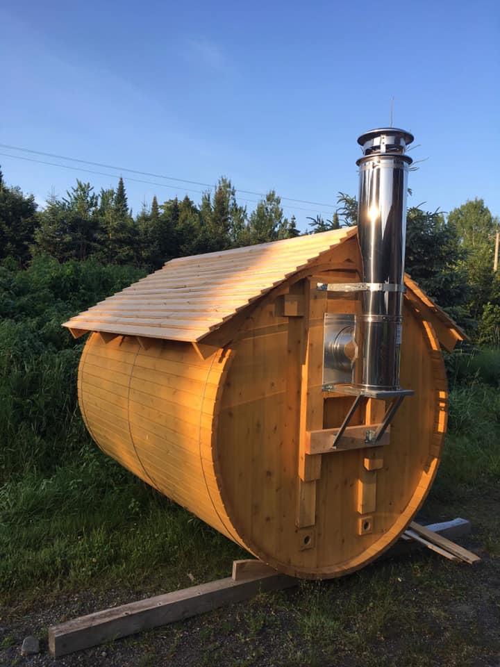 Sauna Le petit moulin du 4 milles - Artisans du cèdre - Cédrières - Saunas - Les barils - Cantons de l'Est - Estrie
